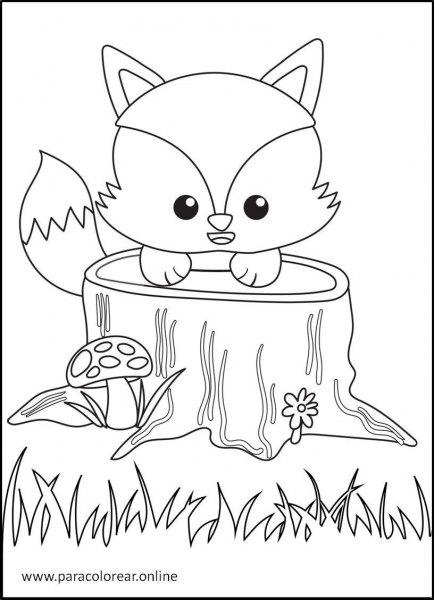 Animales-del-bosque-para-colorear-8