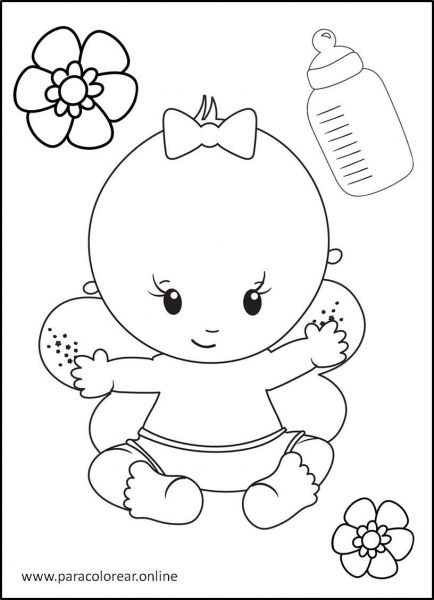 Bebés-para-colorear-10