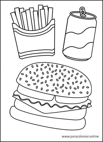 Comida-para-Colorear-1