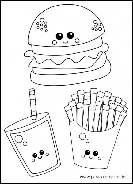 Comida-para-Colorear-3