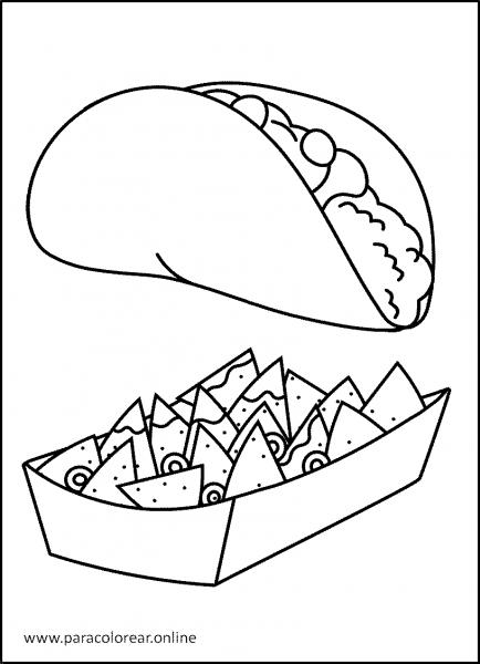 Comida-para-Colorear-8