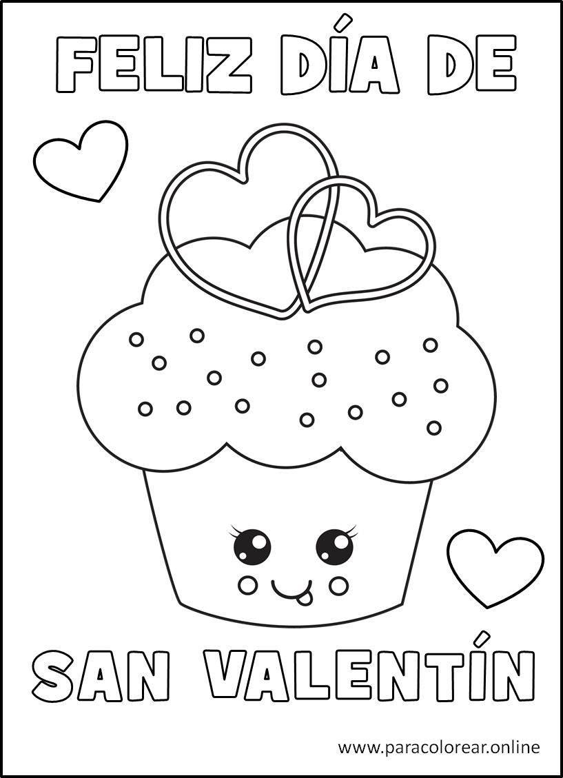 Dibujos del Día de San Valentín para Colorear Imprimir y ...