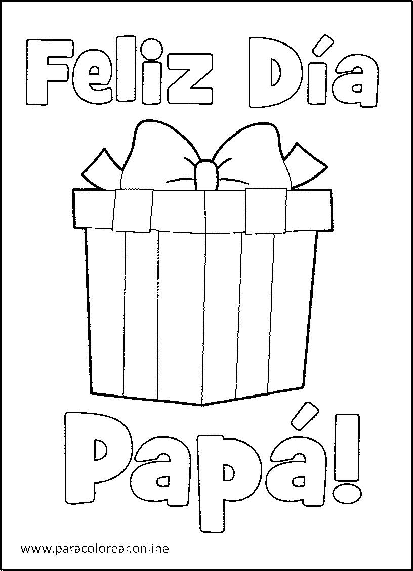 ▷ Dibujos del Día del padre para Colorear Imprimir y Pintar 👨👨💼