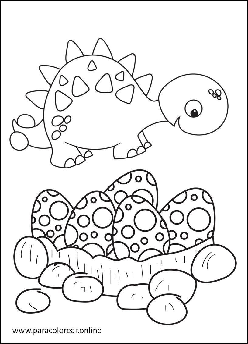 Los mejores Dibujos de Dinosaurios para Colorear Imprimir ...