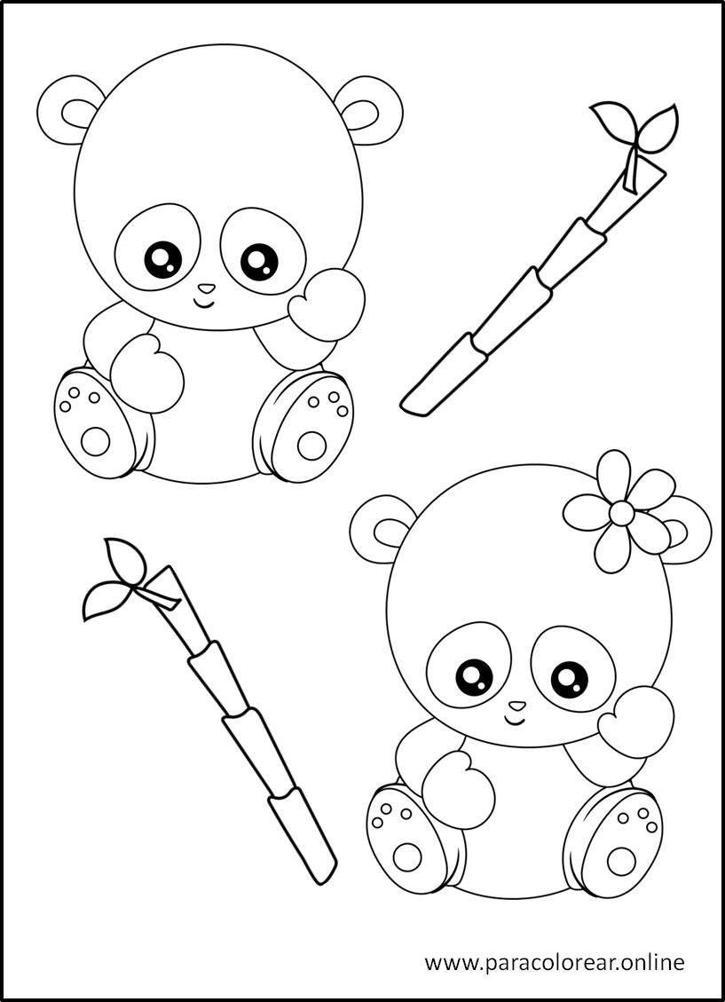 Los mejores Dibujos de Osos Panda para Colorear Imprimir y ...