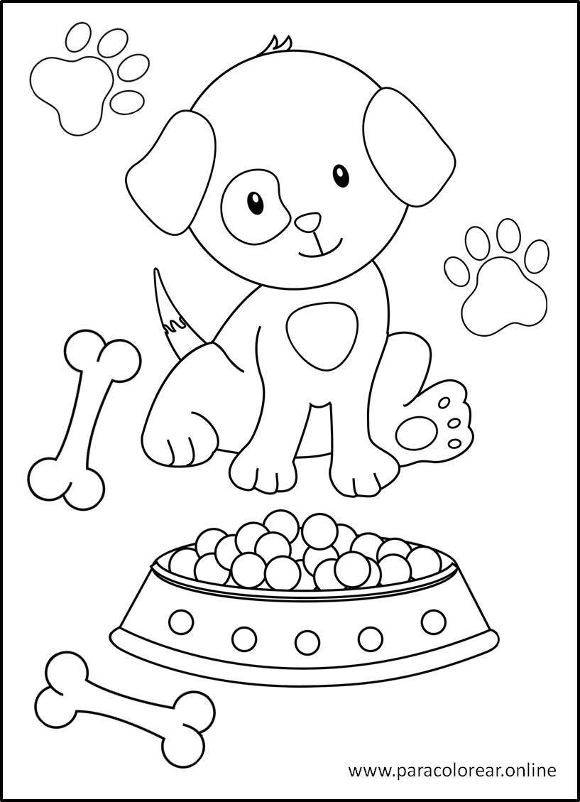 Los mejores Dibujos de Perros para Colorear Imprimir y ...