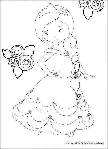 Princesas-para-colorear-7