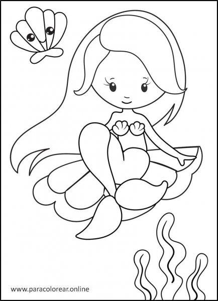 Sirenas-para-Colorear-6