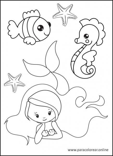 Sirenas-para-Colorear-7