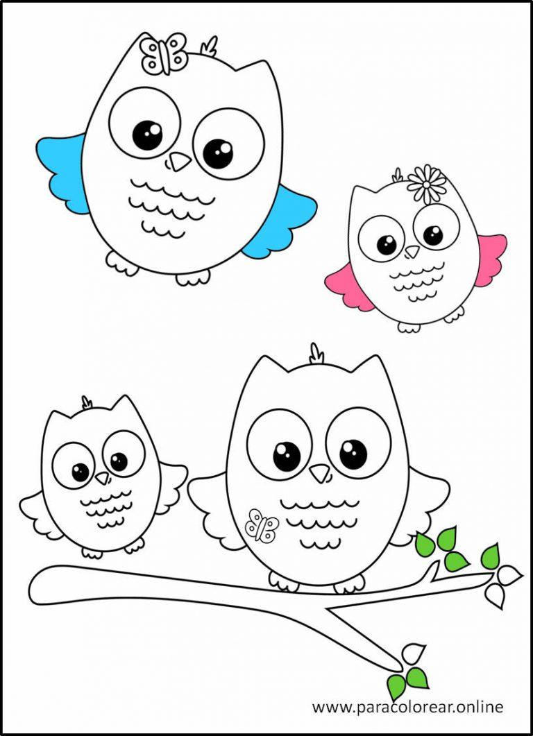 Dibujos de Búhos para descargar y colorear