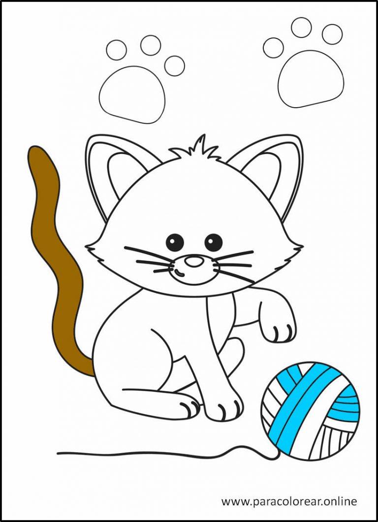 Gatos para colorear