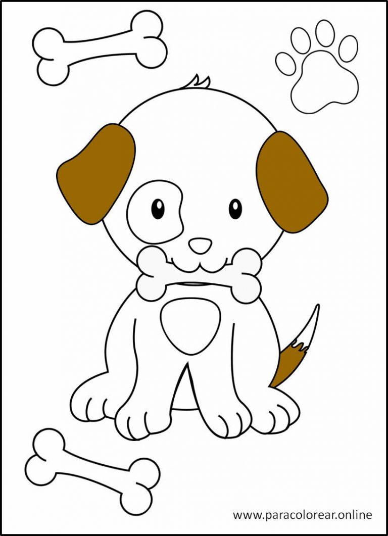Perros para pintar y imprimir